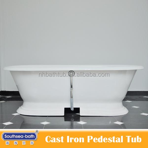 Used Cast Iron Enamelled Pedestal Bathtub For Sale Buy Bathtub Iron Enamell