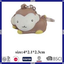 China supplier custom keychain pu monkey