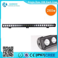 New Product!! Super spot and bright curved Single row 10W each cre e 260 w led work light 50 inch led light bar