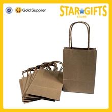 Alibaba China Hot Sale Customized Strong Cheap Brown Kraft Paper Gift Bag