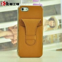 Mobile phone accessories leather cover case for iphone 5s
