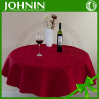 Beautiful home decoration plain colour round party table cloth