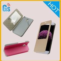Luxury Leather Window Smart Flip Case Cover Back For Meizu MX5 Ultra Thin