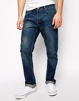 straight denim in mid washed brand rock jeans in bulk
