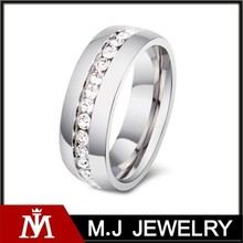 titanium ring mens womens wedding stainless steel crystal new ring