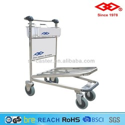 Stainless Steel Airport Trolley airport passenger trolley airport luggage trolley