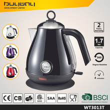 Wholesale cordless stainless steel safety boil 1.7l electric kettle