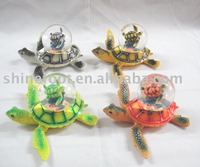 S/4 resin Turtle 45mm snow globe for home decoration