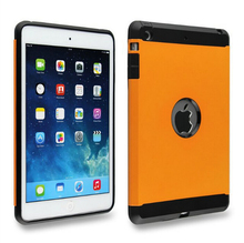 2 in 1Shockproof Plastic soft tpu rubber hybrid cover case for ipad mini 2 3 fundas slim armor capinha fund for ipad air