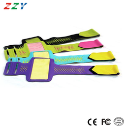 New products 2016 mobile accessories soft lycra material running sport armband for Iphone 6