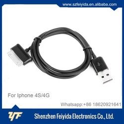 Top quality TPE mini 30pin usb data and charging cable for apple iphone 4