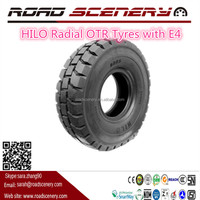 China off the roads tyres HILO 18.00R33 Radial OTR Tyres with E4 design for trucks