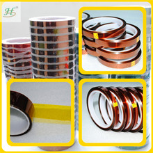 ISO 9001:2008 Certified 3M Equivalent Silicone Adhesive Coated High Temperature gold finger insulation tape