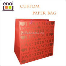 wine business branded wholesale paper bag with paper handle