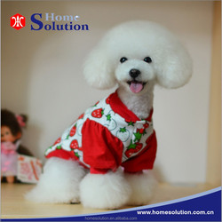 Cute strawberry shaped printing fashion desion clothes for pet dogs,puff sleeve