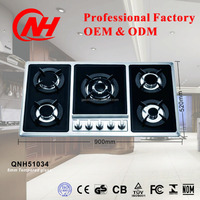 NEW MODEL TEMPERED GLASS PANEL 5 BURNERS GAS COOKER