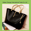Trendy customize solid color leisure pu shoulder bag for ladies