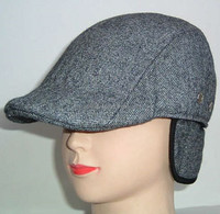 various of fashion ivy cap and baseball cap with earflaps use wool,cotton and linen material