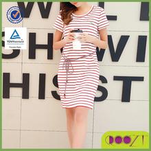 2015 fashionable short sleeve O-neck women dress casual stripe korean dress sex