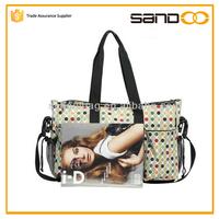 2015 China promotional holding baby mother change bags