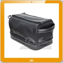 New arrival pu leather men toiletry bag