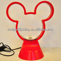 Mickey Mouse table lamp ,red table lamp,kids lamp