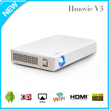3D 30000 hours 720p HD mini portable projector media player/dlp projector for iphone/China made pocket projector