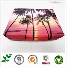 Wholesale Women PU leather view printing Cosmetic bag Girl messenger bag