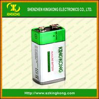 6LR61 Alkaline 9V size silver green jacket Zn/MnO2 New KingKong product