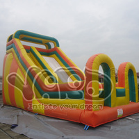 Commercial grade inflatable large slide