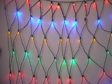 hot sell M5 4'x6' Multicolor LED Net Lights Green Wire for xmas decoration