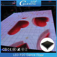 Colorful Acrylic covering led white dance floor lamps for rentals