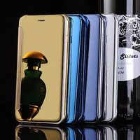 For iPhone 6 Flip Case,Clear View Window Smart Mirror leather flip phone case for Apple iPhone 6
