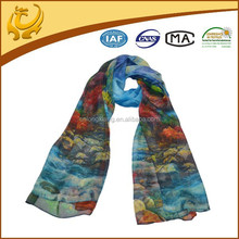 Classics Factory Custom Fashion Pashmina Indian Chinese 100% Silk Scarf
