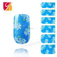 Discount Beauty Office Bule Nail Art Designs Handmade In Philippines GDI-002