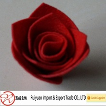 popular Wine red handicraft felt rose flower for promotional wedding gift