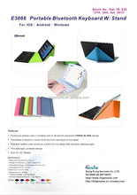 PU Univeral Bluetooth keyboard For All-purpose Systerm iphone mini ipad with leather case stand