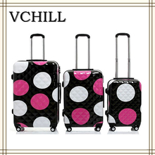 new products factory wholesale OEM polka dot luggage
