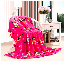 100% polyester print high quality 2015 new design super soft flannel coral blanket