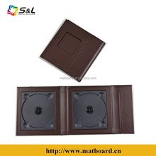 black wedding leather cd dvd cover box usb and dvd folio decoration wedding 2 dvd case cd box