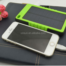 portable power bank solar panel 5000mah solar power bank, waterproof power bank
