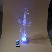 Best selling clear glass hookah shisha/nargile/water pipe/hubbly bubbly with good quality and led light