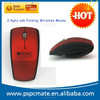 2.4ghz usb folding wireless mouse folding arc mouse wireless with customized logo and mini usb receiver for Mac