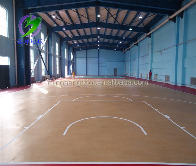 Attractive price sports equipment basketball court sports for Indoor basketball court flooring cost