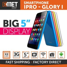 "SMARTPHONE IPRO GLORY I - 3G - 4GB - DUAL CORE - 5"" DISPLAY - DUAL CAMERA FLASH LED - DUAL SIM - WIFI - BLUETOOTH"