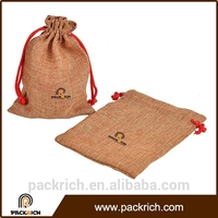 High Quality environmental small capacity jute drawstring bag