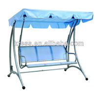 KLS-E004 blue swing chair for 3 persons