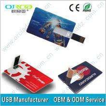 business Card USB 1gb, 2gb, 4gb, 8gb, 16gb, 32gb,64gb Plastic Visiting Card