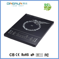 390*370 big black crystal plate 2000w touch sensor induction cooking top