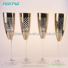Mintao Handmade luxury golden champagne flute,wine glasses set